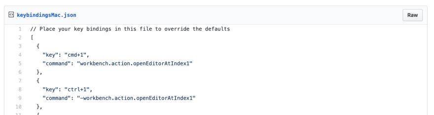 Mac key bindings uses a file called keyBindingsMac.json