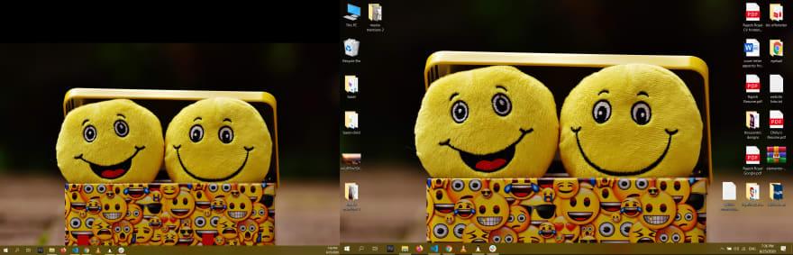 windows desktop dual monitor Rajesh royal screenshot