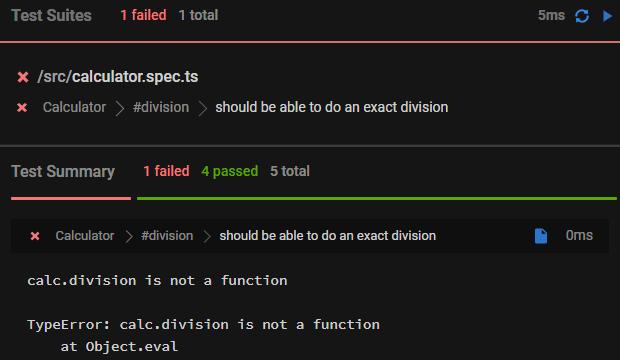 division method failing