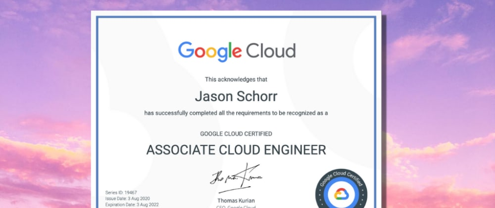 Cover image for I'm a certified Associate Cloud Engineer!