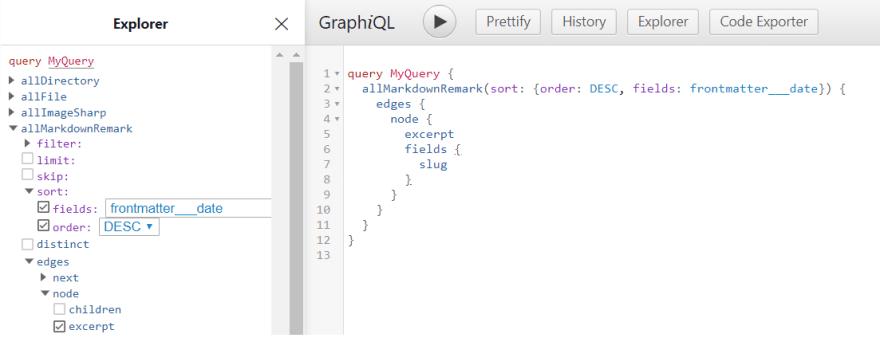 screenshot of graphiql IDE