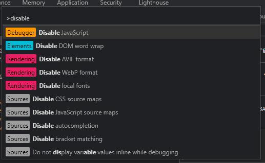 Chrome command palette