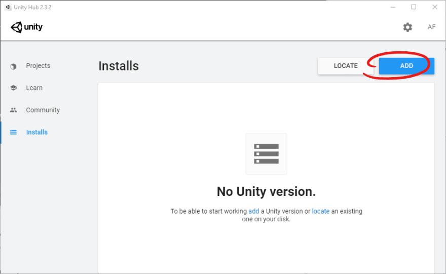 00-UnityHub_2.3.2_Add_Install_Button