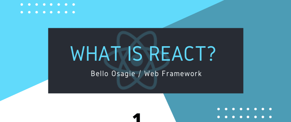 Cover image for What is React?