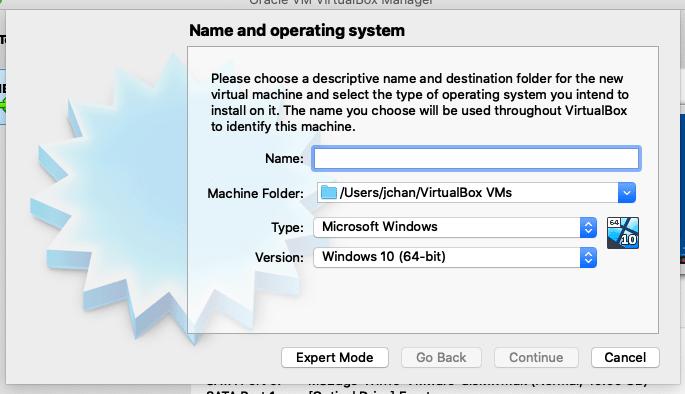VirtualBox Interface