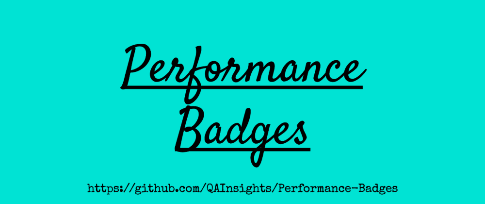 Cover image for Performance Badges