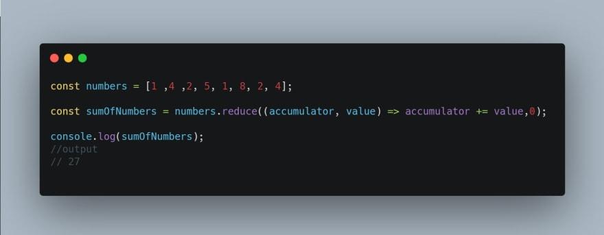 reduce method example