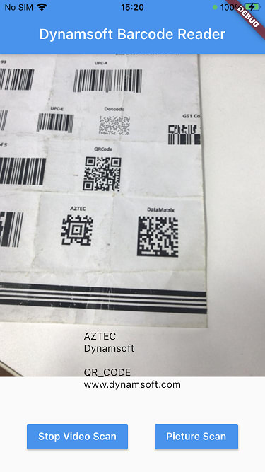 flutter barcode SDK for iOS