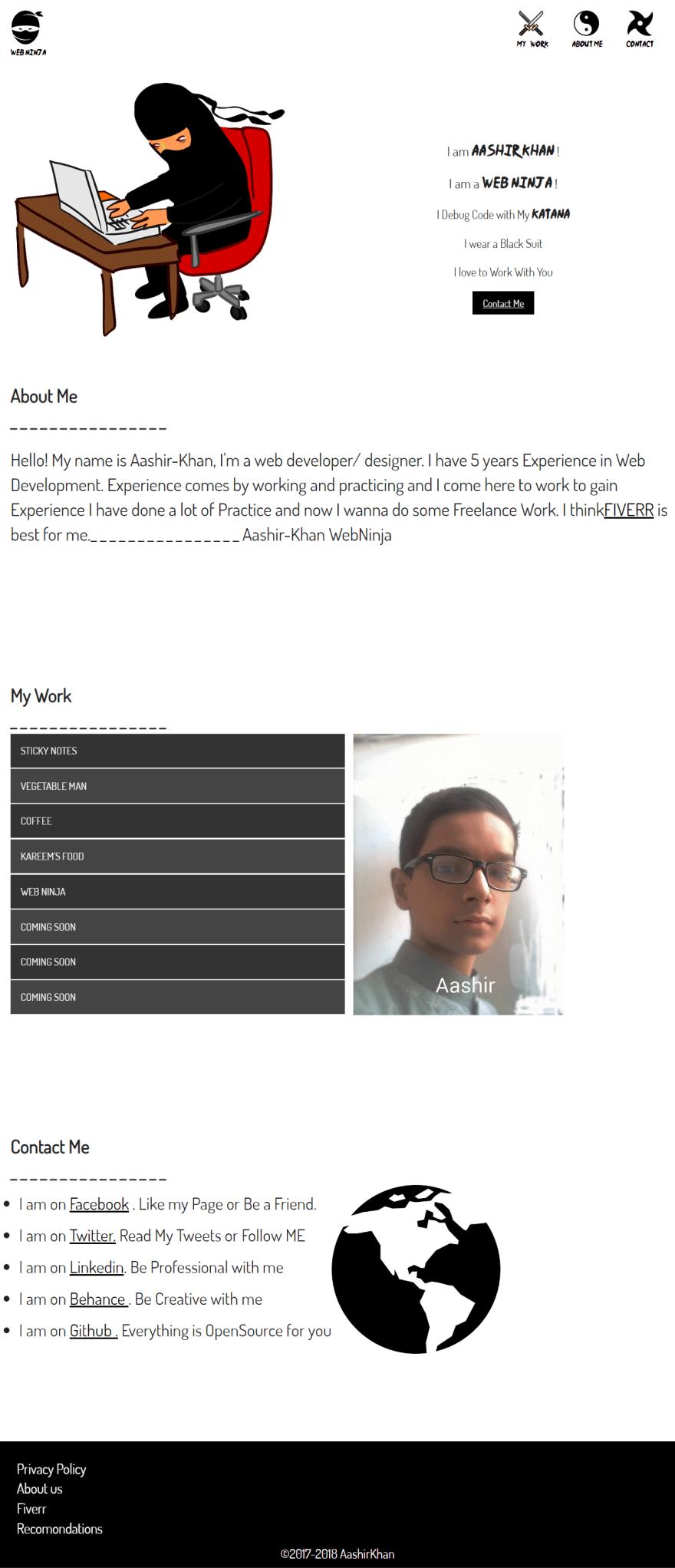 HTML CSS Web Ninja