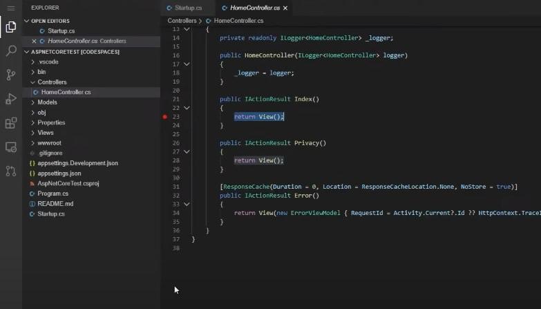Visual Studio Codespaces theme