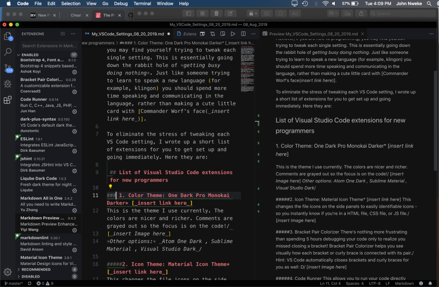 Markdown Preview Enhanced