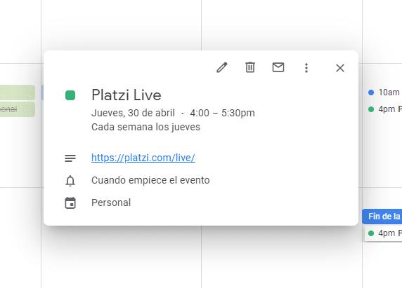 Creando un hábitos en Google Calendar
