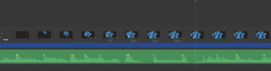 Example audio visual timeline