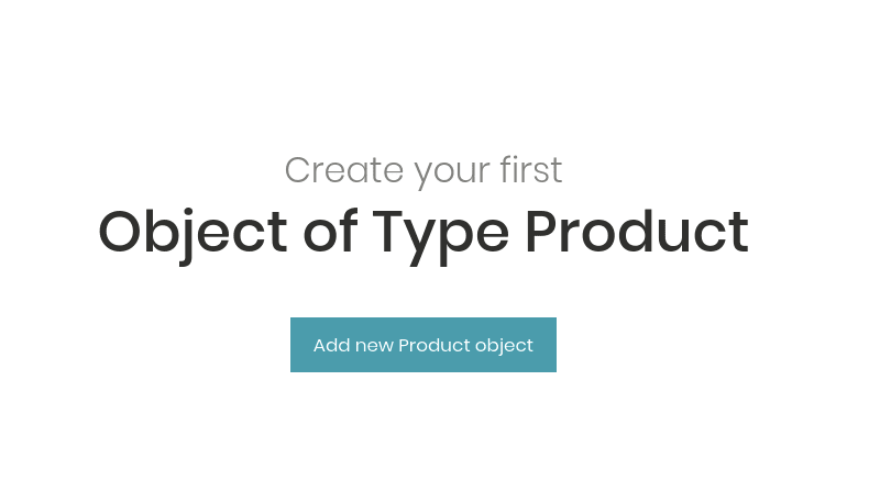 Adding new Content Object of type Product