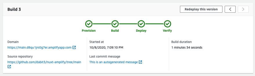 Successful deployment