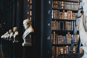 history in library busts