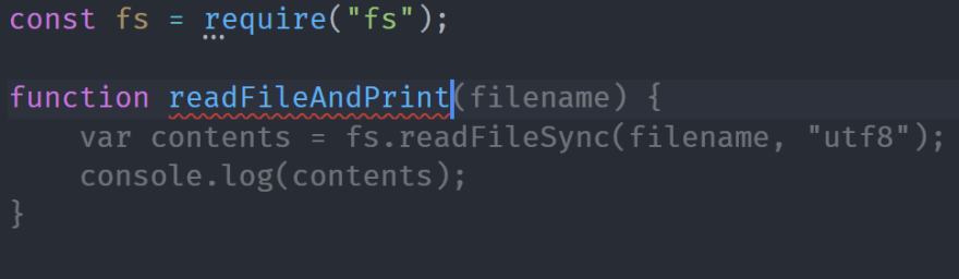 Read File and Print Function