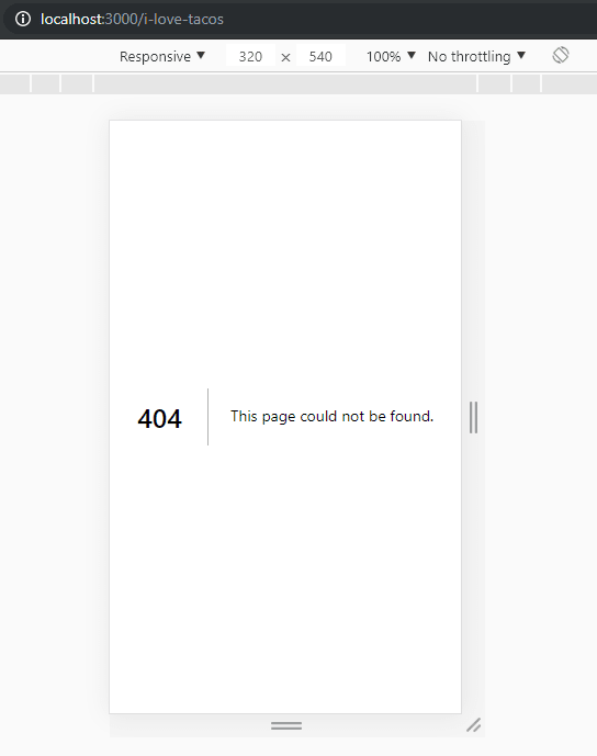 Default Error Page NextJs