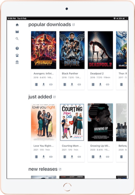 Cinepotato added to Home Screen on iPad 2020