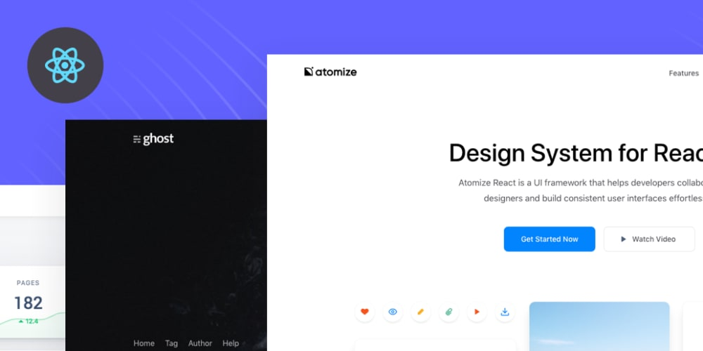React profile page template