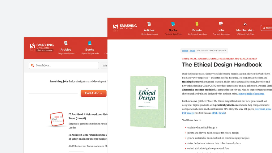 The SmashingMag site.