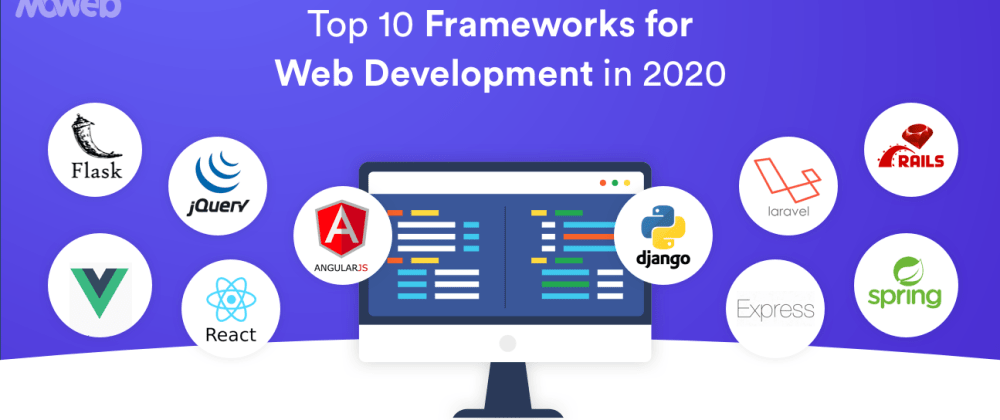 Cover image for Top 10 Web Development Frameworks in 2020