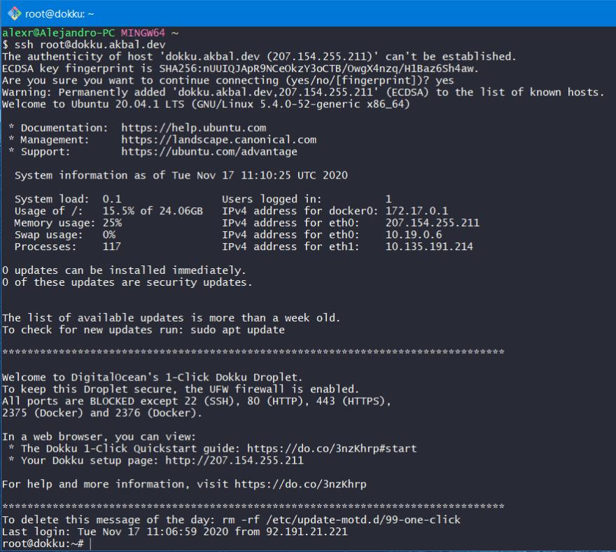 SSH Connection