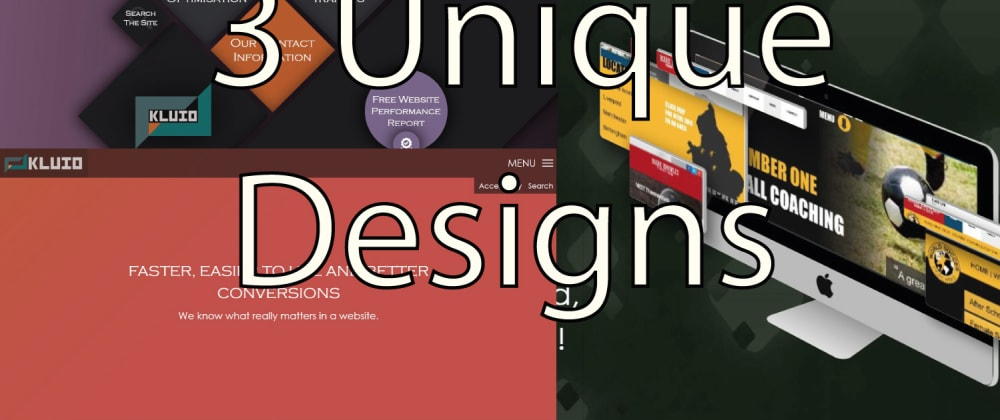 Cover image for Have you ever built a completely unique website? (here are 3 of mine to get you started)