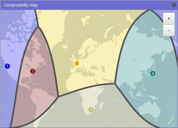 Geoproximity Map