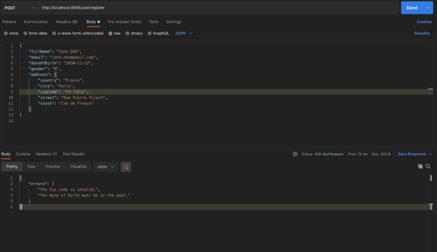 Nested validation in action