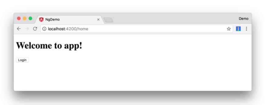new login button