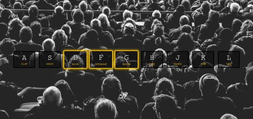 Transition still active in Vanilla JavaScript Drum Kit Project