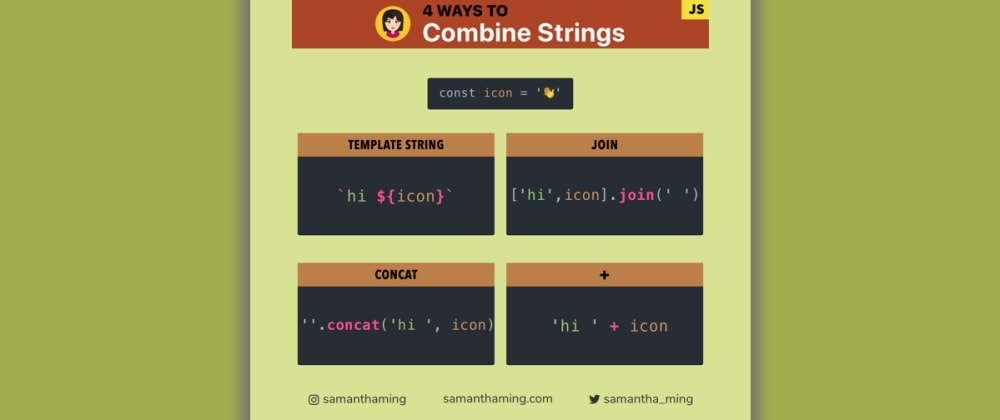 Cover image for 4 Ways to Combine Strings in JavaScript
