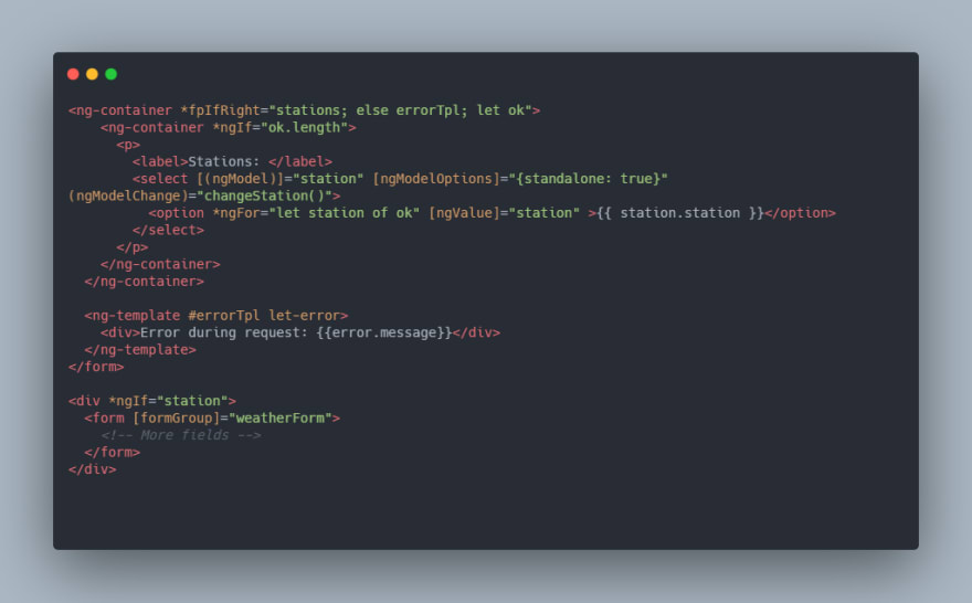 either implementation with error and data - html