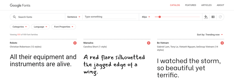 Google Fonts Photo