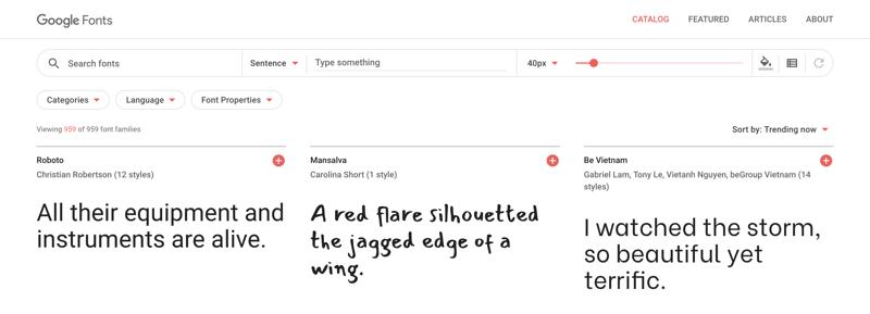 Google Fonts Photo