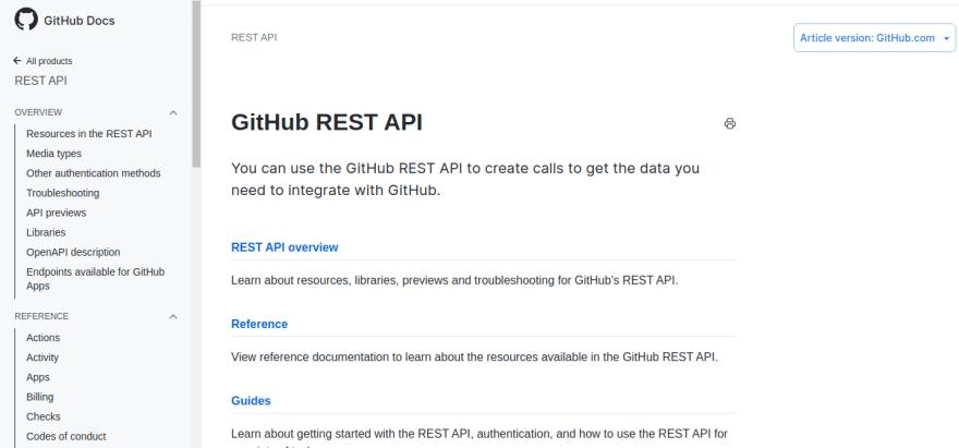 free github api