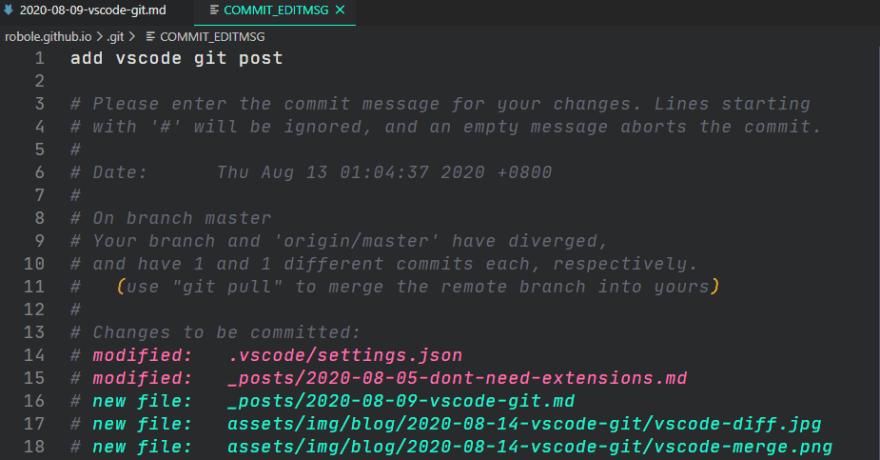 vscode commit