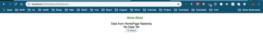 "Data ""Nabendu"" is passed"