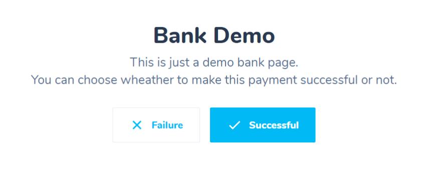 Bank Demo Page
