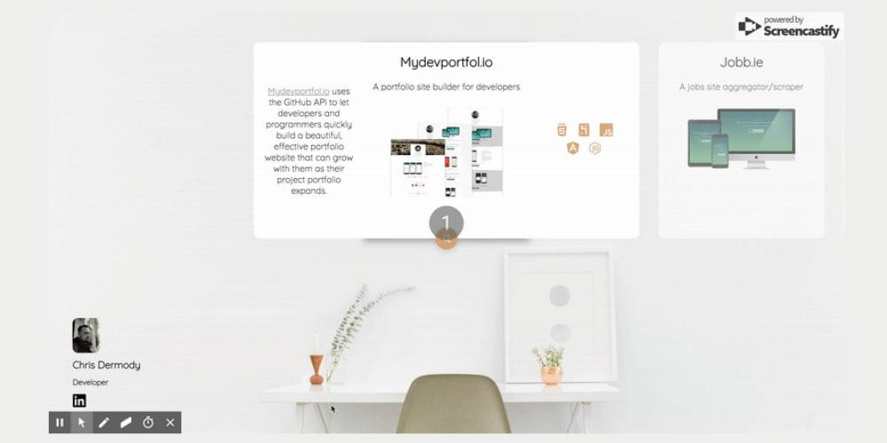 I've re-built my portfolio based on a Dribbble shot I found