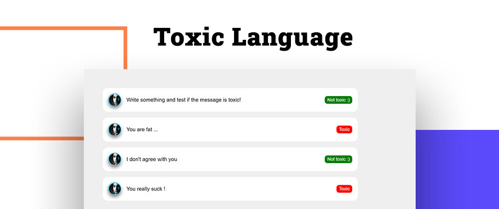 Cover image for Detect toxic language with TensorFlow.js