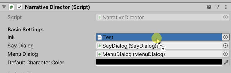 Assigning the text asset