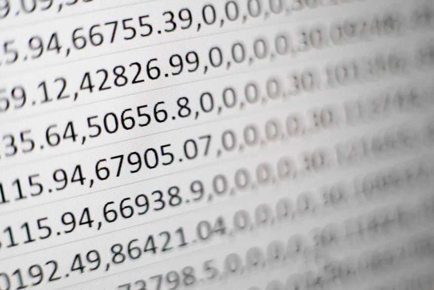 Floating point numbers on a computer screen