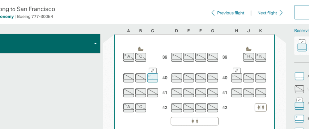 Cover image for Reverse Engineering Cathay Pacific's Seat Selection Page