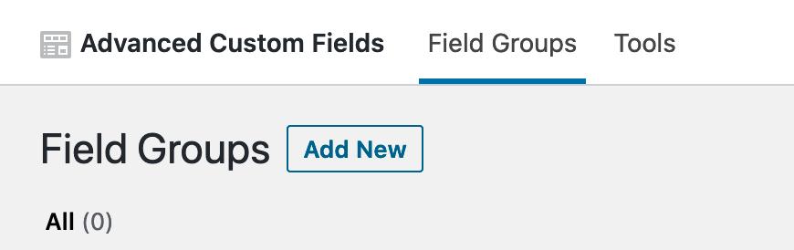 Add Field Group