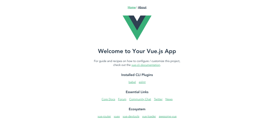 Default Vue application.