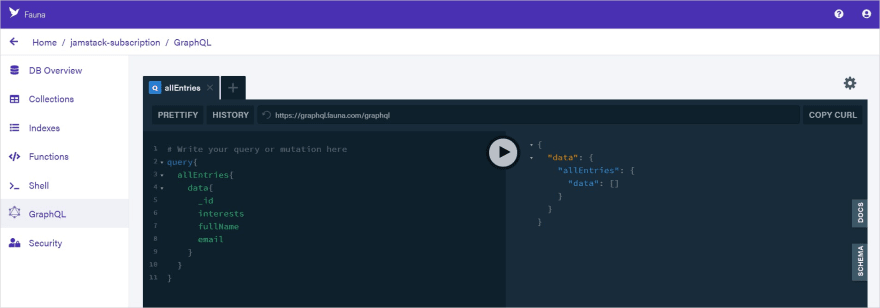 GraphQL Code Editor