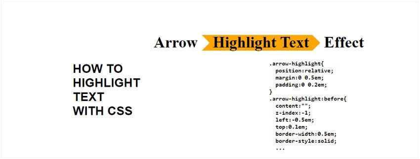 Arrow CSS Highlight Text Effect