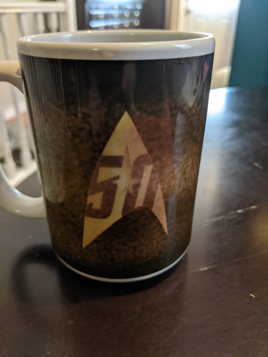 Star Trek logo side